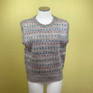 Vintage sweater vest no size listed maybe Medium